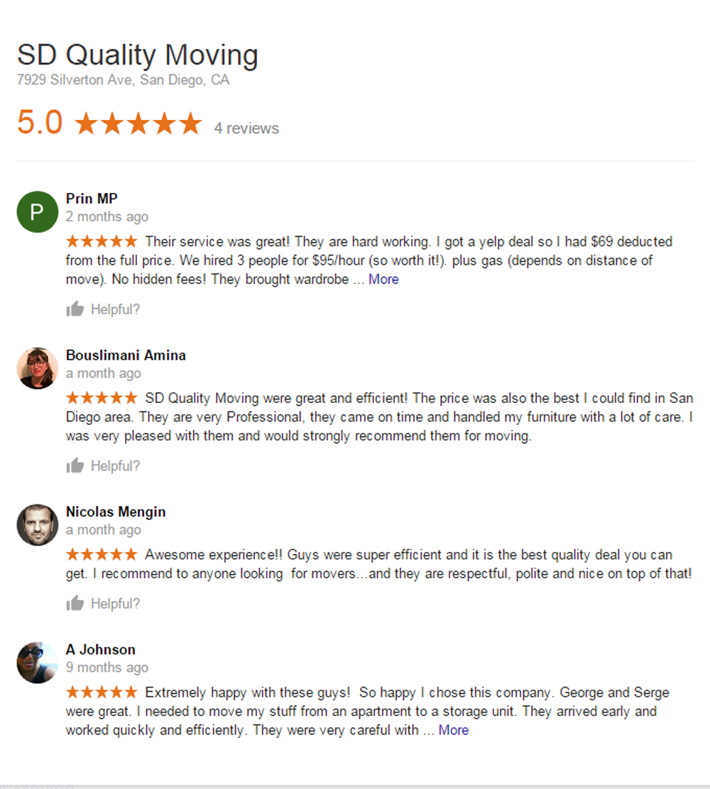 Cheap movers San Diego